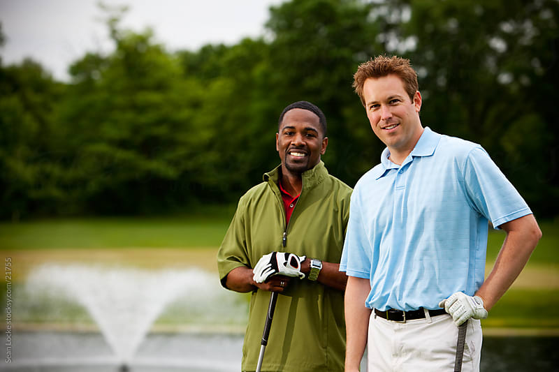 Golf: Friends On the Course by Sean Locke for Stocksy United