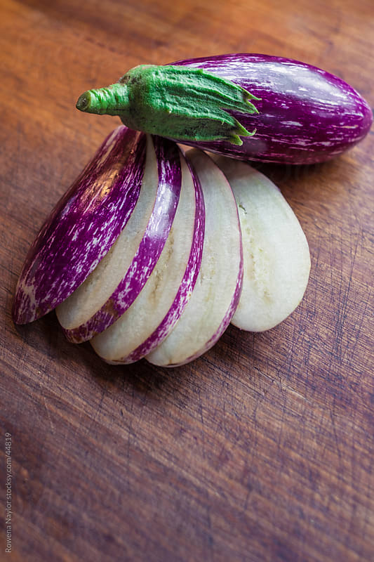 Organic Heirloom Eggplant Vegetable by Rowena Naylor for Stocksy United