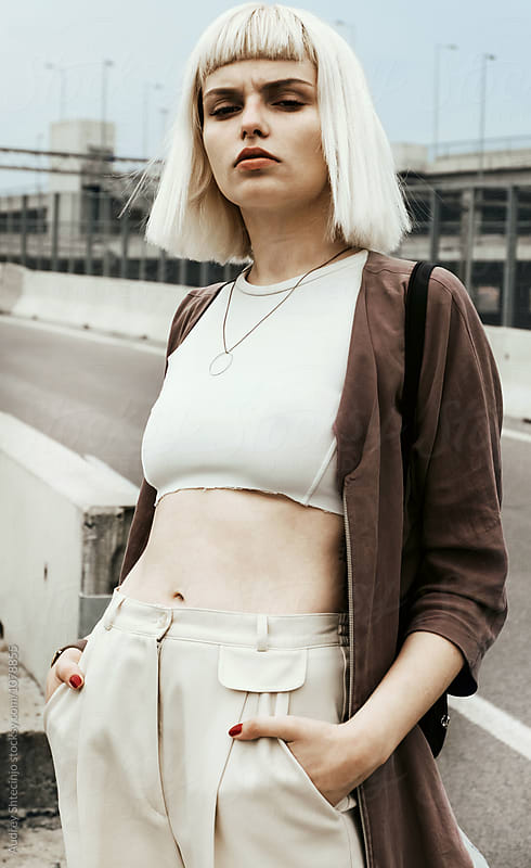 Hip and stylish young blonde woman . by Marko Milanovic for Stocksy United