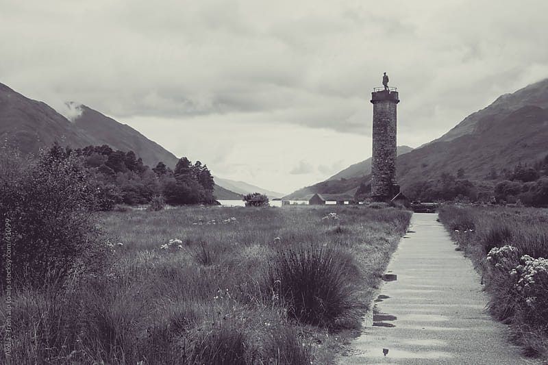 Glenfinnan Monument at Loch Shiel by Leander Nardin for Stocksy United
