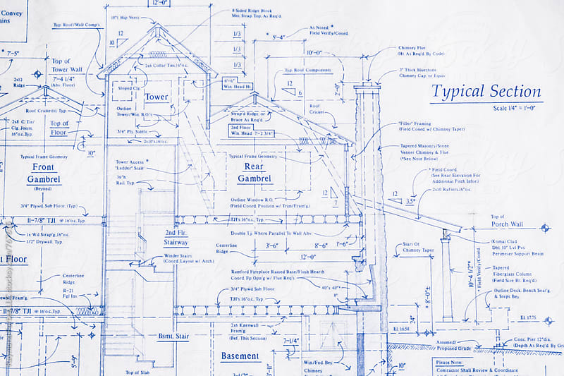 Residential House Plans by Raymond Forbes LLC for Stocksy United