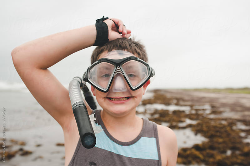 Silly Snorkeler  by Courtney Rust for Stocksy United