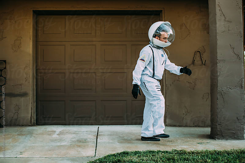 Astronaut walk by Addie Mannan Photography for Stocksy United