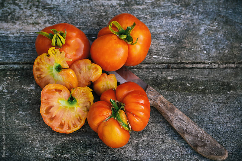 Organic Heirloom Tomatoes by Rowena Naylor for Stocksy United