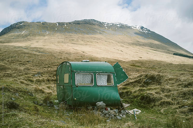An abandoned caravan in the Scottish Highlands by Ivo de Bruijn for Stocksy United