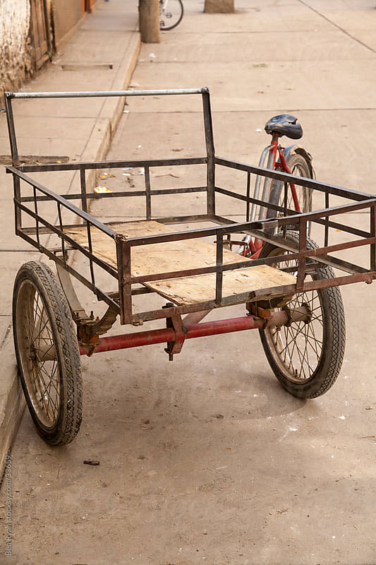 Pedal powered tricycle Peru by Ben Ryan for Stocksy United