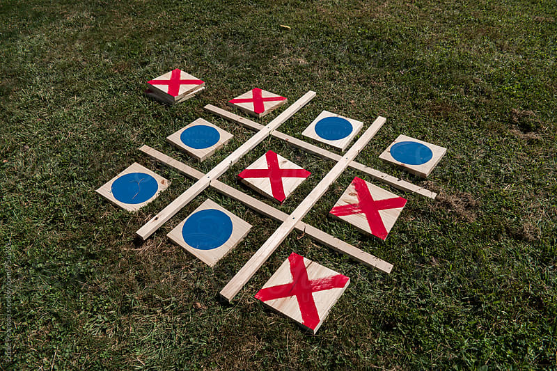 Handmade tic tac toe board by Eddie Pearson for Stocksy United