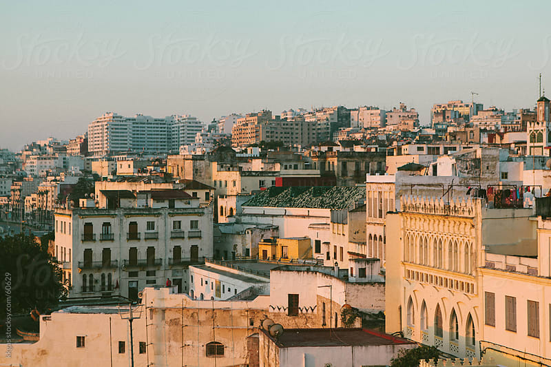 Dawn over Tangiers skyline. by kkgas for Stocksy United