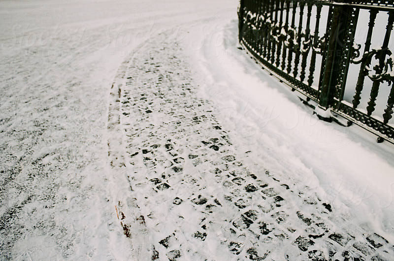 Path covered with snow by Lyuba Burakova for Stocksy United