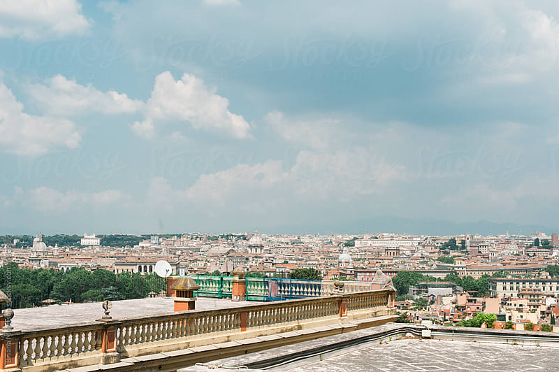 A View of Rome from Above by Briana Morrison for Stocksy United
