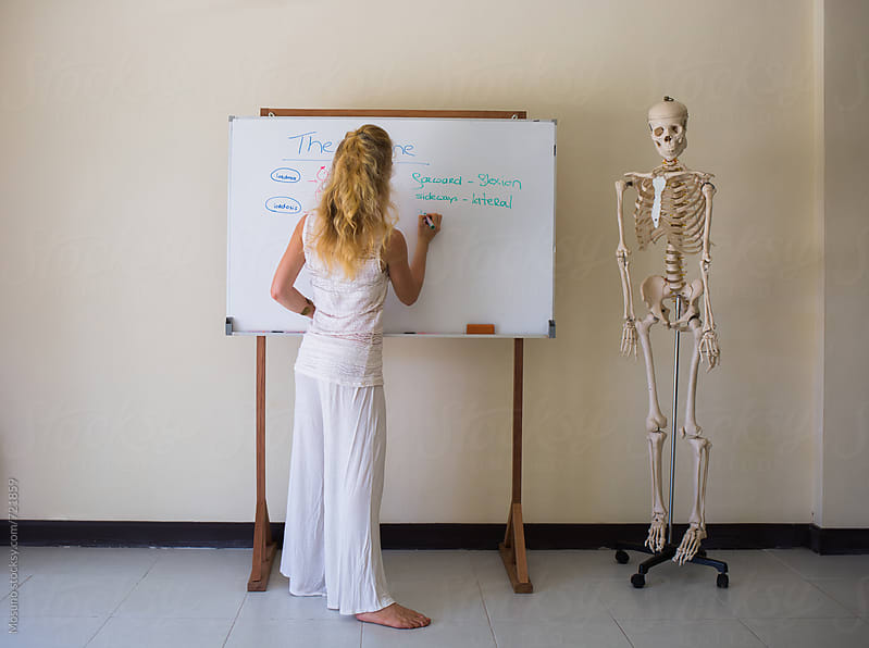 Woman Teaching Anatomy by Mosuno for Stocksy United