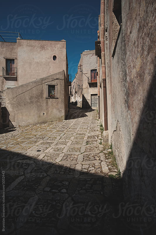Narrow streets of a historic town Erice by Branislav Jovanović for Stocksy United