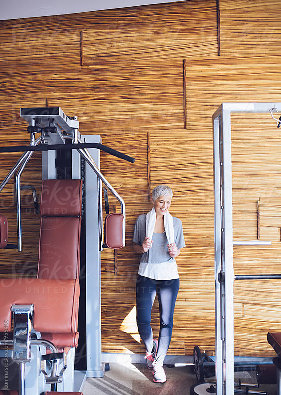 Senior Woman in the Gym
