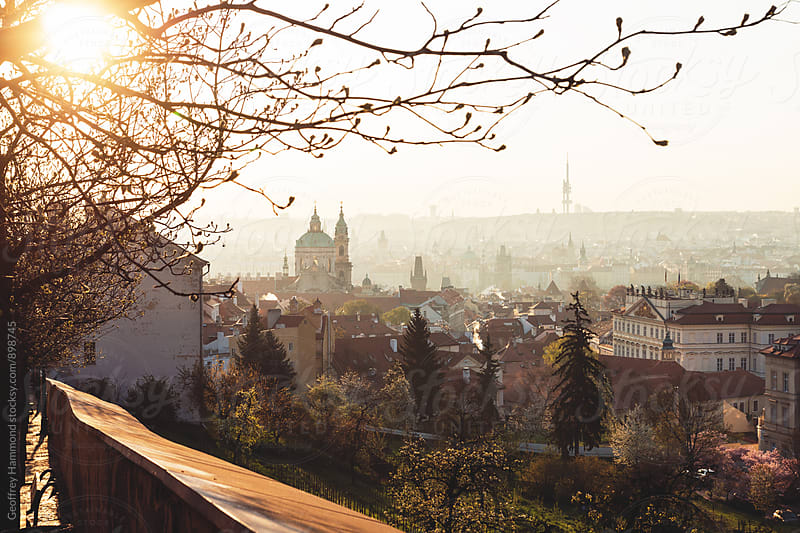 Sunrise View over Prague by Geoffrey Hammond for Stocksy United