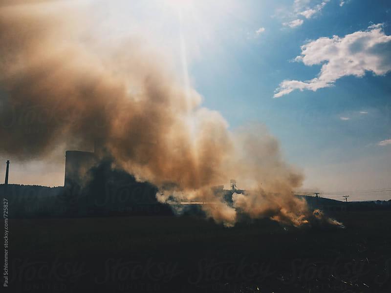 hay smoke by Paul Schlemmer for Stocksy United