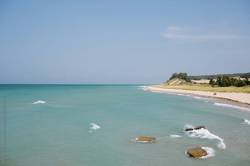 Lake Michigan Coastline by Brad and Jen Butcher for Stocksy United