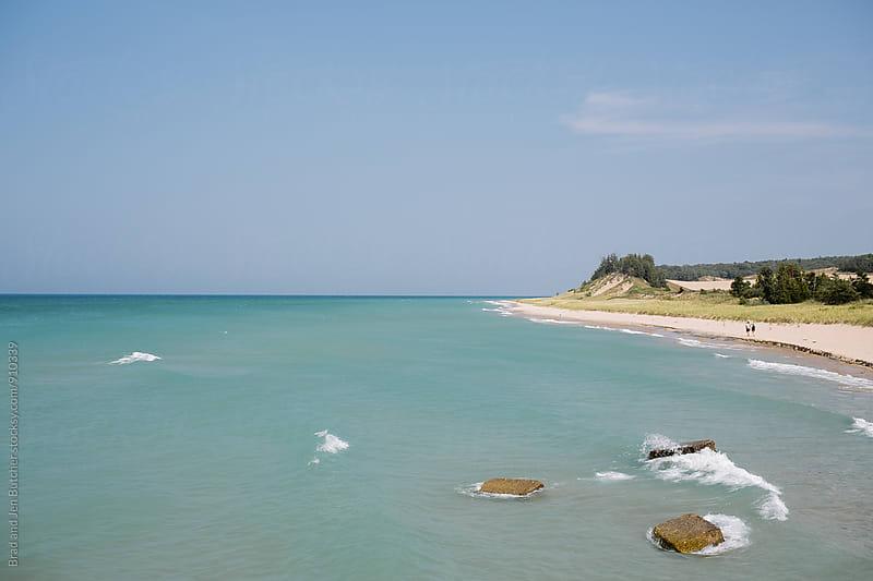 Lake Michigan Coastline by Brad & Jen for Stocksy United