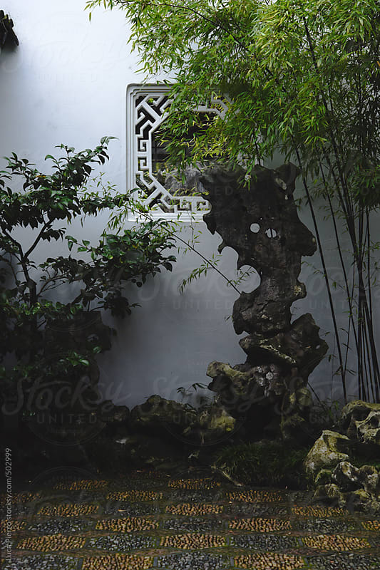 Classical Chinese garden by Luca Pierro for Stocksy United
