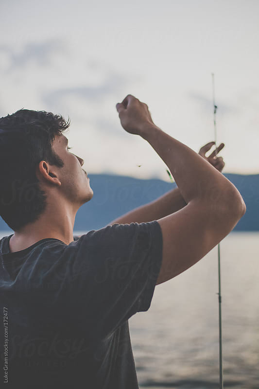 Keith Fishing by Luke Gram for Stocksy United