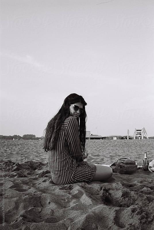 On the sandy beach by Aleksandra Martinovic for Stocksy United