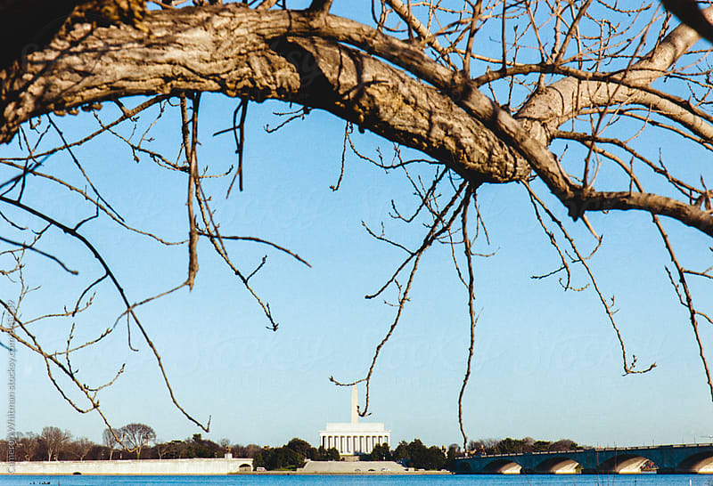 Abstract view of Washington DC Memorials by Cameron Whitman for Stocksy United