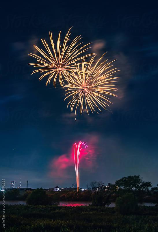 Fireworks In Portrait by Leslie Taylor for Stocksy United