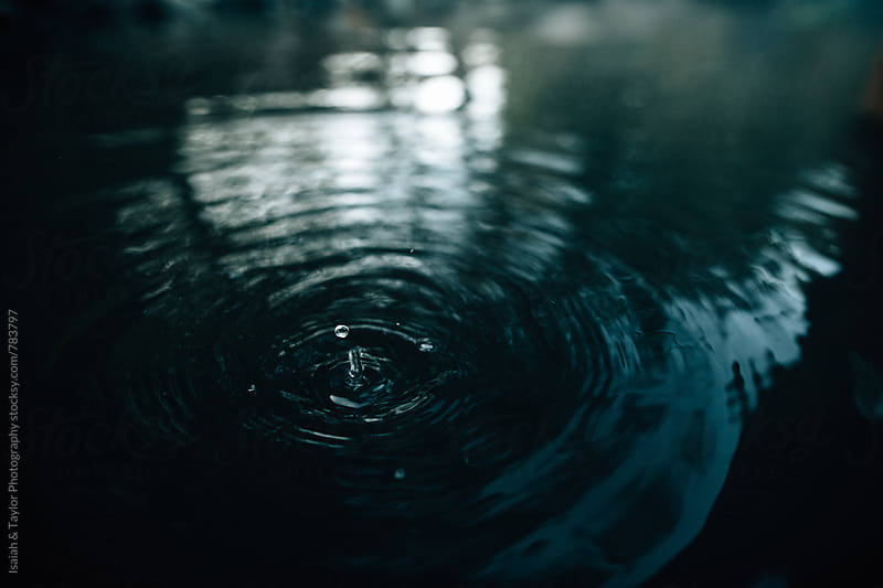 Water droplets in water by Isaiah & Taylor Photography for Stocksy United