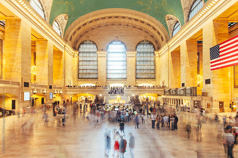 Blurred Crowd at Grand Central Station in New York City by VISUALSPECTRUM for Stocksy United