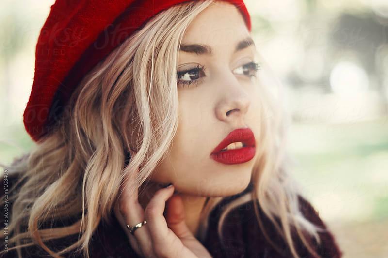 Beautiful girl outdoors by Jovana Rikalo for Stocksy United