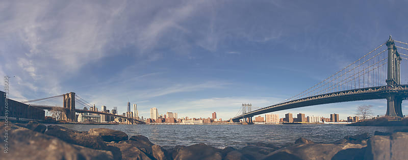 Brooklyn Bridge and George Washington Bridge in New York City by Ron Adair for Stocksy United