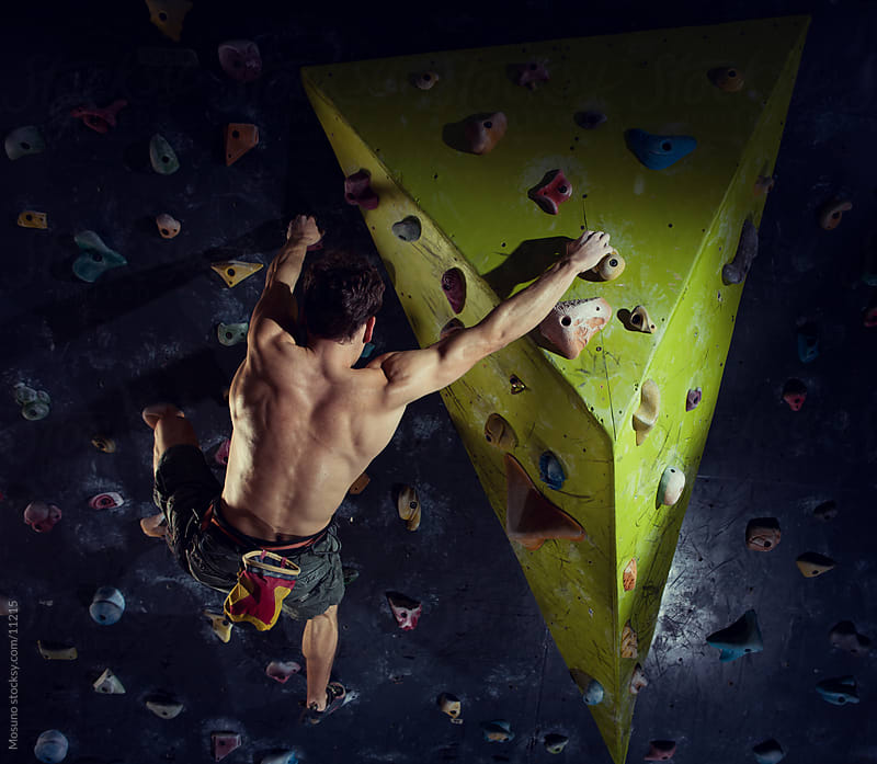 Free Climber on Artificial Rock by Mosuno for Stocksy United