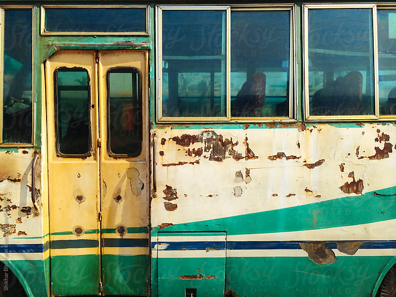 Details of an old abandoned bus. by Shikhar Bhattarai for Stocksy United
