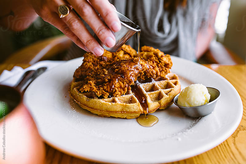 Chicken + Waffles by Andrew Cebulka for Stocksy United