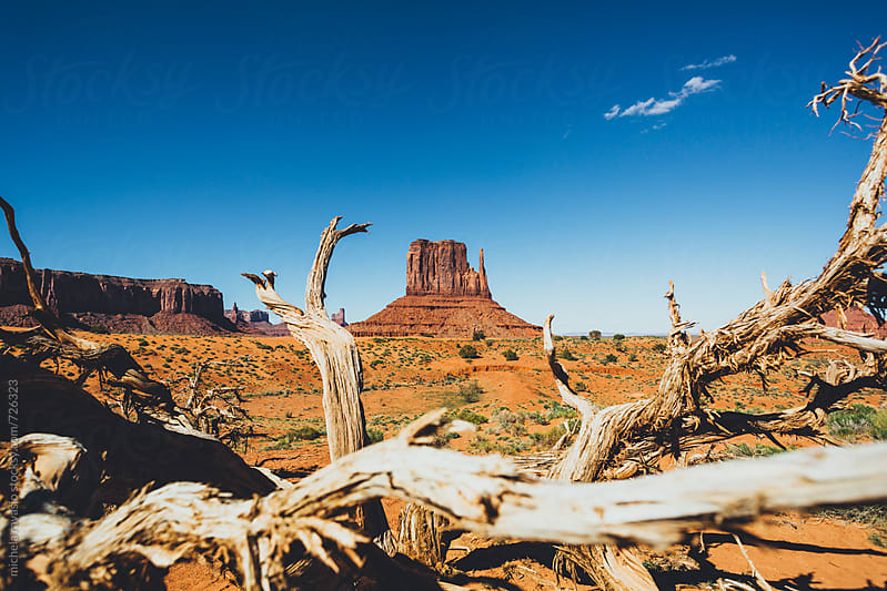 View of rock formation in Monument Valley by michela ravasio for Stocksy United
