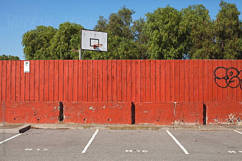 basketball hoop by Natalie JEFFCOTT for Stocksy United