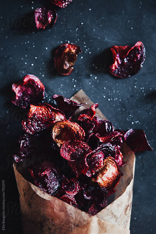 Beet chips by Ellie Baygulov for Stocksy United