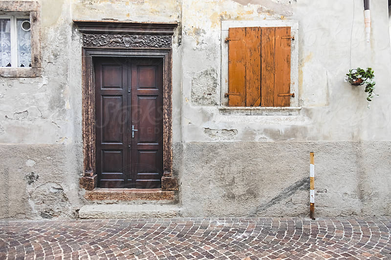 Old Wooden Door in a Village of the South Tyrol, Italy by Giorgio Magini for Stocksy United