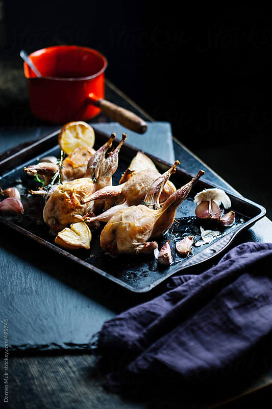 Roasted Quails. by Darren Muir for Stocksy United