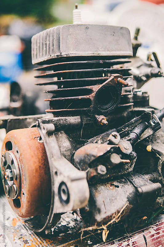 Motorbike engine by kkgas for Stocksy United