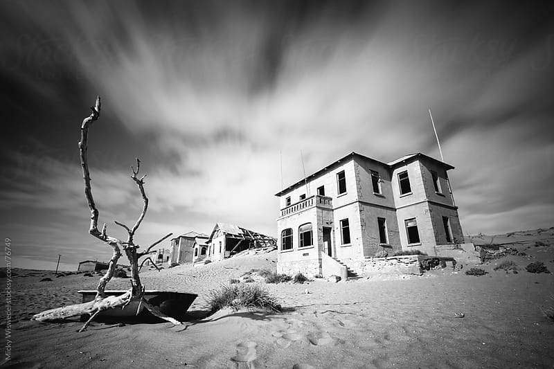 Abondoned House of the Kolmanskop Ghost Town, Namibia by Micky Wiswedel for Stocksy United