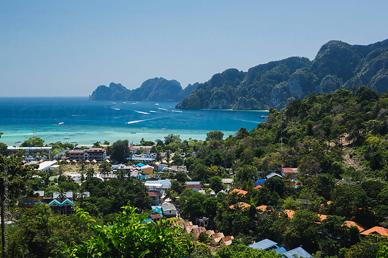 View at Phi Phi Island, Andaman Sea, Thailand by Mauro Grigollo for Stocksy United