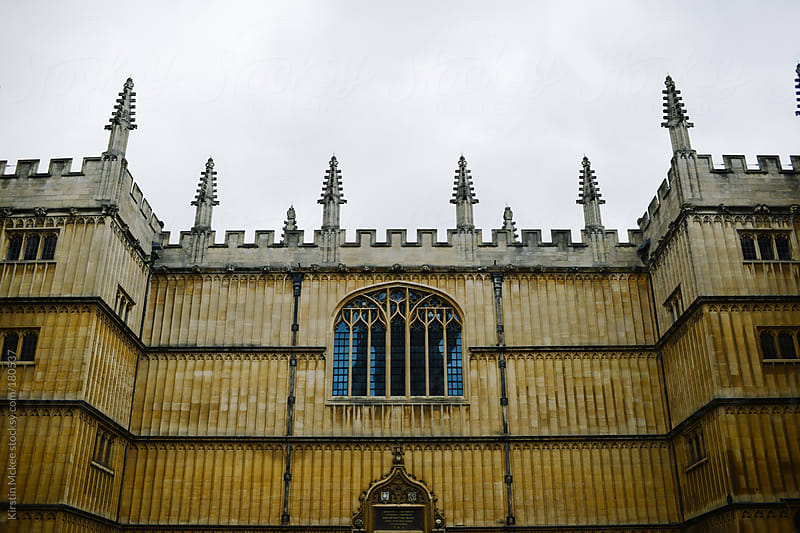 Exterior of the Bodleian Library, Oxford by Kirstin Mckee for Stocksy United