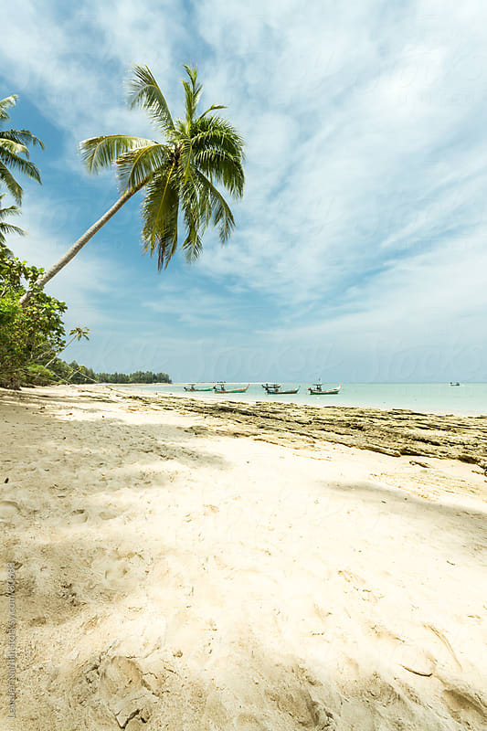 lonesome beach in thailand by Leander Nardin for Stocksy United