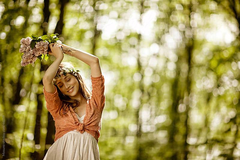 Young woman enjoying spring. by Mosuno for Stocksy United