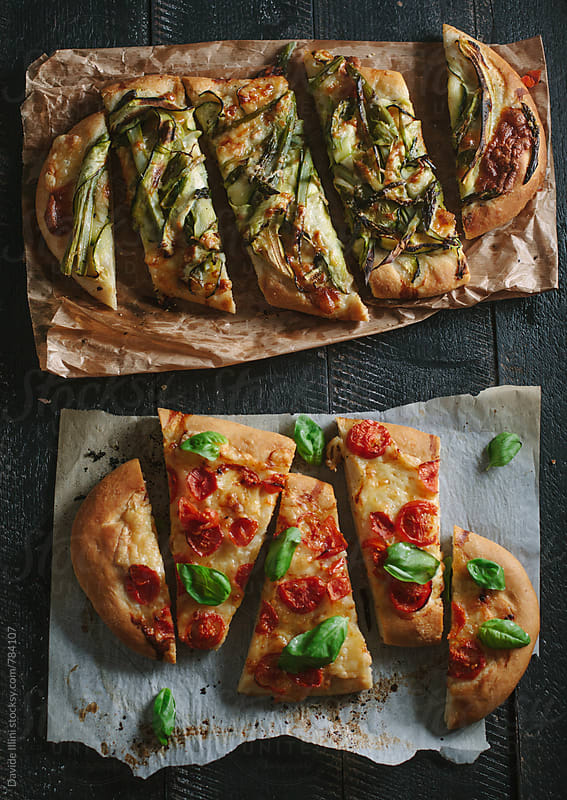 Italian focaccia with vegetables by Davide Illini for Stocksy United