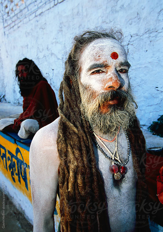 India, Rajasthan, Saddhu holy man during the annual Hindu pilgrimage to Pushkar lake by Gavin Hellier for Stocksy United