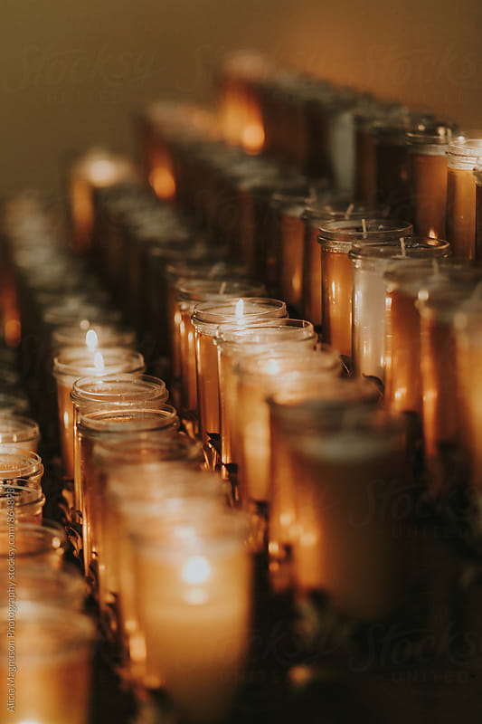 Prayer Candles at Catholic Church by Alicia Magnuson Photography for Stocksy United