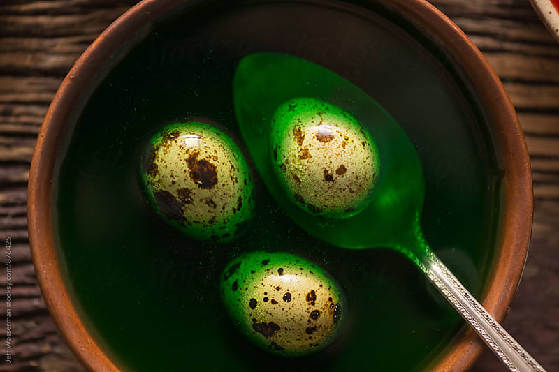 Coloring Quail Eggs For Easter by Studio Six for Stocksy United