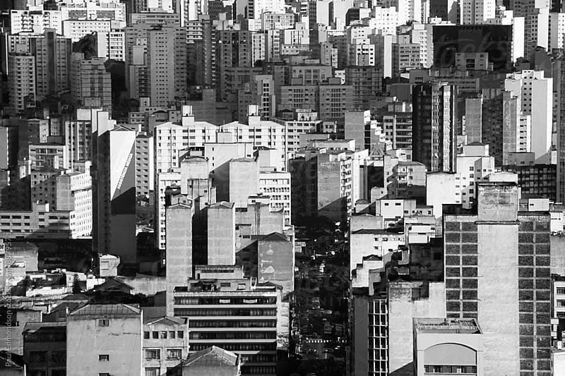 View of expansive Sao Paulo skyline, Brazil by Paul Edmondson for Stocksy United