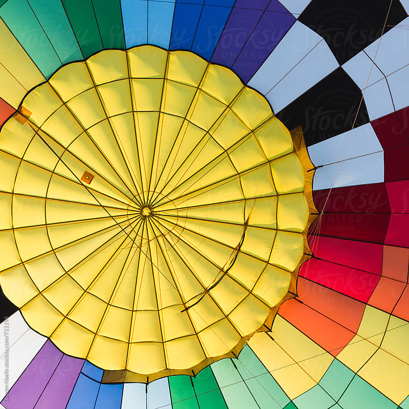 Inside of a hot air balloon by Lauren Naefe for Stocksy United